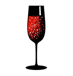 champagne red black glass vector image
