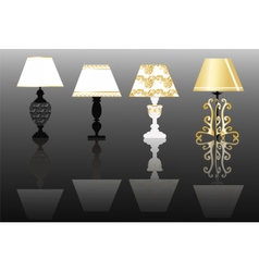 Classic lamp set with ornaments vector