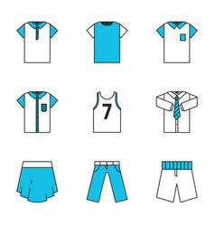 Clothes flat design line icon vector