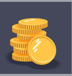 coins icon stack coins vector image