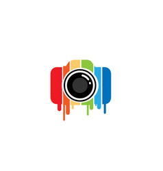 Creative colorful camera logo design symbol vector