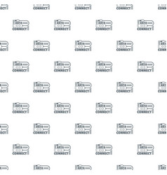 data connect pattern seamless vector image