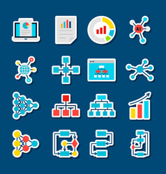 data graph stickers vector image