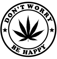 Dont worry be happy vector