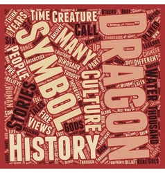 Dragons Through History text background wordcloud vector