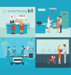 Family planning at the hospital vector