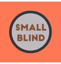 Flat icon on stylish background small blind vector