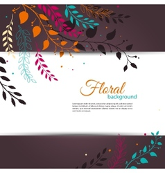 Floral design template vector image