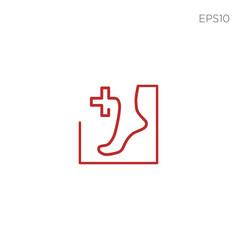 Foot healthcare logo icon or symbol vector