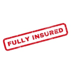 Fully Insured Rubber Stamp vector image
