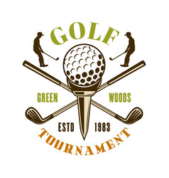 golf sport club emblem badge label logo vector image