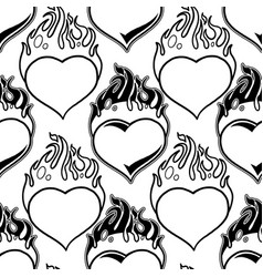graphic flaming heart pattern vector image