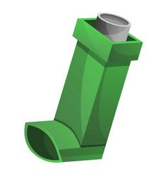 green inhaler icon cartoon style vector image