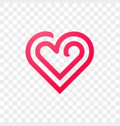 heart logo line abstract creative icon vector image