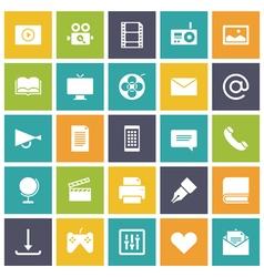 Icons plain tablet media vector