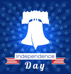Independence day of the usa liberty bell tape vector