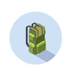 Isometric of camping backpack vector