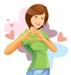 lovely pretty girl vector image