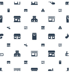 Mall icons pattern seamless white background vector
