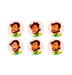 Man avatar people facial emotions default vector