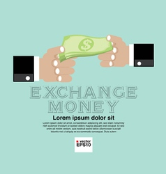 Money Exchange Concept EPS10 vector image