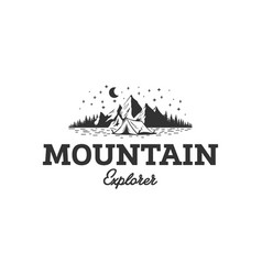 mountain explorer logo designs vector image