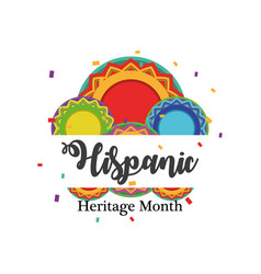 National hispanic heritage month with circles vector