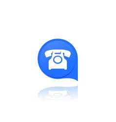 Old phone retro telephone icon vector