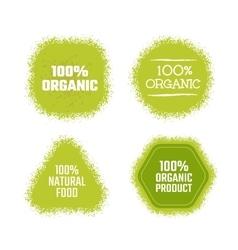 Organic green label vector image
