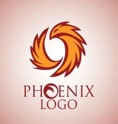phoenix logo 2 vector image