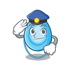 police oxygen mask character cartoon vector image