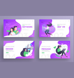 presentation slide templates or hero pages vector image