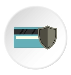 Protection of plastic card icon flat style vector