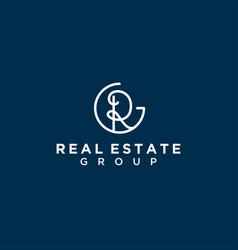 R initial logo design simple minimalist vector