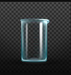 realistic empty laboratory glass beaker vector image