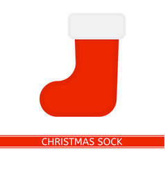 red christmas sock isolated vector image