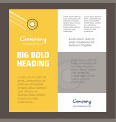 saw business company poster template with place vector image
