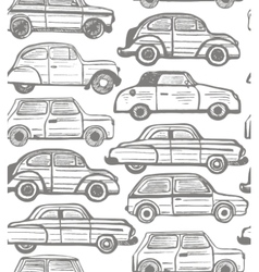 Seamless background with retro cars vector