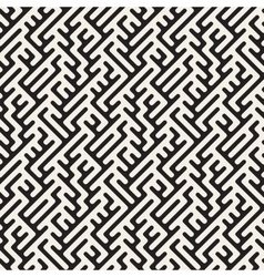 Seamless Rounded Lines Maze Irregular vector image