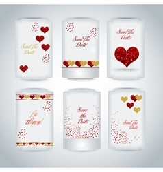 Set of Happy Valentines Day tags vector