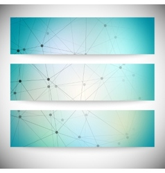 Set of horizontal banners Abstract blue background vector image