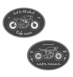 set vintage motorcycle labels vector image