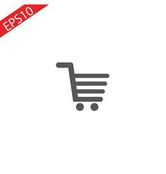 shopping cart icon on white background vector image