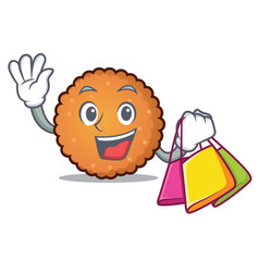 shopping cookies character cartoon style vector image