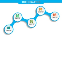 Simply infographic five steps template vector