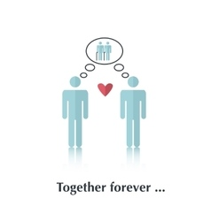 Together forever vector