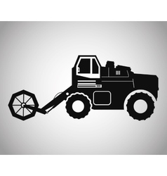 Truck machine and farm lifestyle design vector