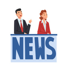 Tv news anchors television industry concept vector
