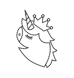 unicorn head portrait horse magic cartoon fantasy vector image