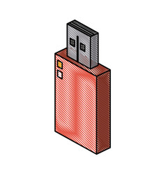 usb storage device vector image